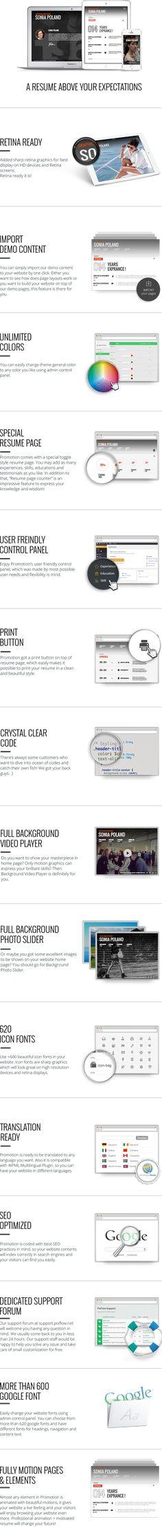 30+ Modern CV/Resume WordPress Themes