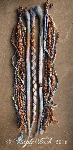 5 Cool Tones Tie-Dye Wool Synthetic Dreadlock von PurpleFinchStore