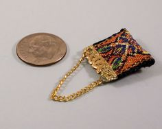 Miniature tapestry handbag or lady's purse by AuntElliesMiniatures