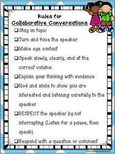 """Collaborative Conversations FREEBIE {Rules and Recording Sheet}....Follow for FREE """"not-to-keep"""" teaching tools & other fun stuff :)"""