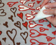 chocolate candy heart tutorial (for cake toppers)