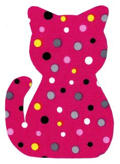 Iron on fabric kitty cat applique DIY by patternoldies on Etsy