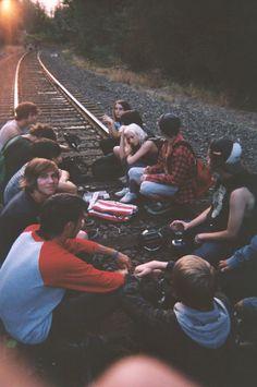 Chillin on a railroad