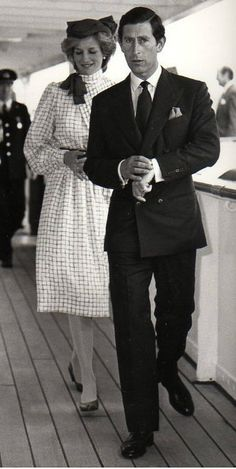 June 14, 1983: Prince Charles & Princess Diana arrive at the Port of Halifax to board Britannia, moored at Pier 36, at the end of their first day in Canada