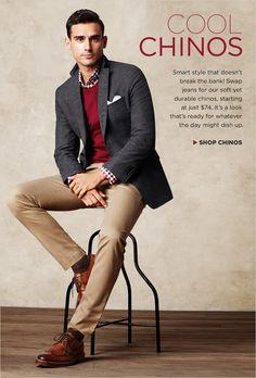 Business casual - Gömlek OK, ayakkabı, pantolon, ceket ve kazağı da alırsak stil tamamdır :)