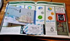Add in memories to your art journal, like date nights!