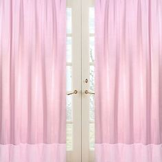 Sweet Jojo Designs Pink Chenille and Satin Window Panel Pair