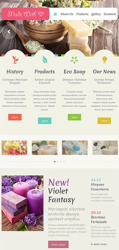 Crafts Responsive Website Template Tablet Layout