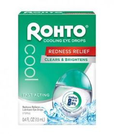 Rohto Cool Redness Reliever Lubricant Eye Drops  Nothing wakes sleepy eyes like these minty drops. Be warned: They tingle—even slightly sting—at first, but that sensation gives way to clearer, brighter peepers within seconds.