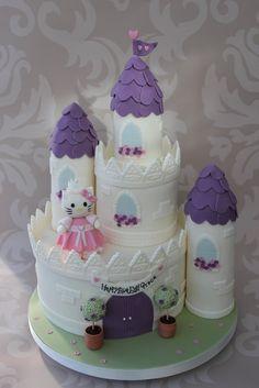 Hello Kitty Castle Cake. by dulciebluebaker