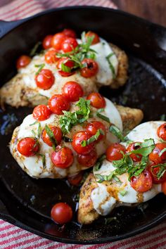 This 30 minute skillet chicken caprese is the perfect weeknight meal. It's quick, easy and delicious!