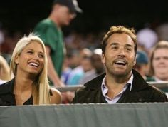 WWE Diva Barbie Blank (Kelly Kelly) & former fling Jeremy Pevin at a New York Giants football game #WWE #wwecouples