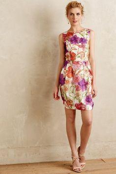 Peony silk organza dress