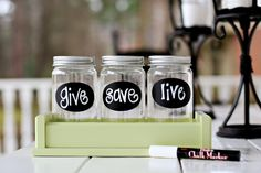 Money Jars from Lil Light O' Mine - give, save, live - easy enough DIY Teaching Money, Teaching Kids, Creative Teaching, Kids Learning, Projects For Kids, Crafts For Kids, Diy Projects, Mission Projects, Money Jars