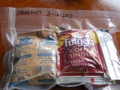 Some excellent suggestions / ideas to expand on. --- Bug Out Bag Meals: DYI MREs Photo