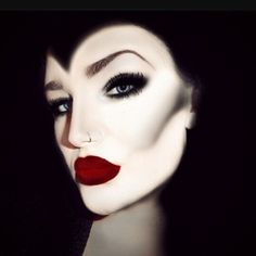 Gorgeous Villain makeup. Perfect for the Evil Queen in Snow White or Maleficent