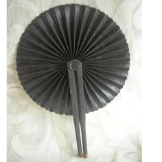Victorian Civil War Era Cockade Mourning Fan