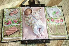 Diaper bags that convert into changing stations! brilliant!