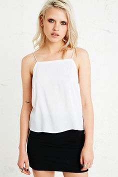 Sparkle & Fade Square Neck Cami in Ivory