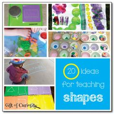 20 ideas for teaching shapes to young kids, including fantastic toys that promote shape learning. Preschool Education, Preschool Classroom, Preschool Learning, Toddler Activities, Preschool Activities, Kids Learning, Shape Activities, Learning Time, Learning Spanish