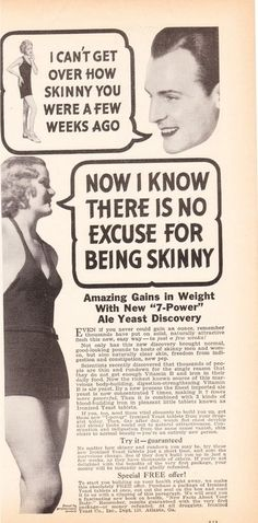 actual ad promoting weight gain