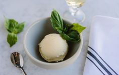 Recipes in honor of Pantone's color of the year: Greenery! Basil Ice Cream from Edible Rhody