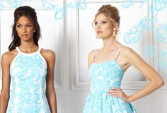 Lilly Pulitzer Pearl Halter Shift Dress & Becky Dress in She's a Fox  #DressUpPartyDown