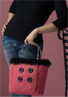 Double Breasted Jacket Purse by Mary Jane Hall from Positively Crochet! 50 patterns for garments and accessories in 1 book