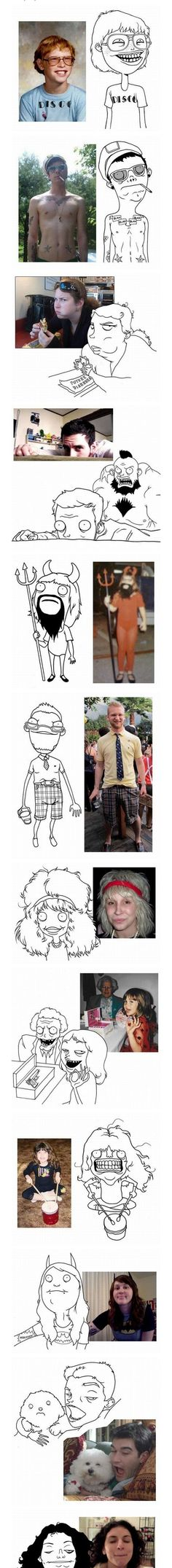 Funny Caricatures Of Facebook Users