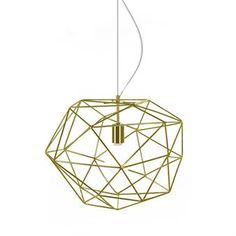 Update your home with the cool Diamond pendant designed by Patrick Hall for the Swedish brand Globen Lighting. The lamp is made of lacquered metal bars shaped like a giant diamond and is equipped with a wire and transparent cord. The lamp is suitable for a living room or dining room and spreads beautiful shadows when lit! Choose between different colors.