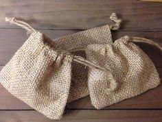 Mini Burlap Trinket Bags - Jilly Bean Kids www.jillybeankids.com