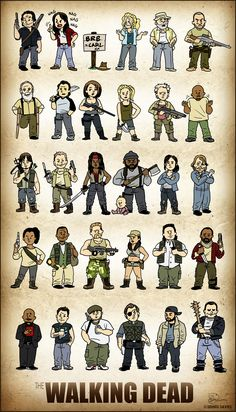 The Walking Dead Squishies by CitizenWolfie.deviantart.com on @deviantART