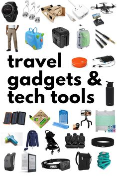 Travel Gadgets & Tech Tools for family travel. These gadgets make family travel easier and more fun- I am putting several on our Christmas list! Best Travel Gadgets, New Gadgets, Future Gadgets, Camping Gadgets, Travel Hacks, Kitchen Gadgets, Travel With Kids, Family Travel, Family Trips