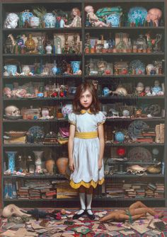 a series of Cabinet of curiosity themed artwork by Hiroshi Furuyoshi - details in multiple images to inspire miniature Cabinet of Curiosities Figure Painting, Painting & Drawing, Art Et Illustration, Illustrations, Desenhos Tim Burton, Jenny Saville, Arte Obscura, Cabinet Of Curiosities, Arte Horror