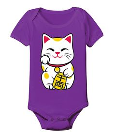This LC Trendz Purple Lucky Cat Bodysuit - Infant by LC Trendz is perfect! #zulilyfinds