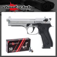 """Ekol Firat Magnum Schreckschusspistole - vernickelt inkl. 50 Platzpatronen """"shoot-club""""    - weitere Informationen und Produkte findet Ihr auf www.shoot-club.de -    #shootclub #pistol #guns #Blankgun #ammunition"""
