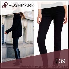"BLACK Denim LEGGINGS Skinny Pants 💟NEW WITH TAGS💟 RETAIL PRICE: $58 *****SIZING- Tagged juniors Size 11 (L) = Women's 8-10 (M)  BLACK Denim LEGGINGS Skinny Pants  * Zip fly w/button closure  * Comfy waist, flattering cut, & skinny leg  * Stretch to fit & pull-on style  * Solid black  * Approx 8"" rise & 30"" inseam  * Made in the USA   Material: 72% Cotton, 25% polyester 3% spandex Color: Black Item# #  🚫No Trades🚫 ✅ Offers Considered*✅ *Please use the blue 'offer' button to submit an…"