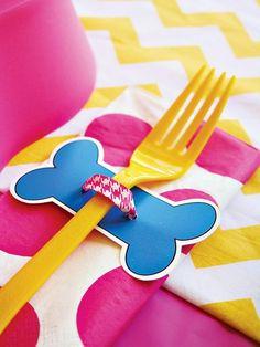 Cute decor idea for a girls PAW Patrol birthday party