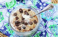 Cookie Dough Oatmeal #treat