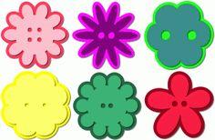 Silhouette Design Store - View Design #43849: flower button set