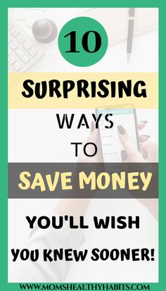 10 Unique Ways To Save Money Fast - Mom's Healthy Habits Start saving today with these top 10 surprising ways to save money that you'll wish you knew about sooner! The fast plan to get you saving right now. Save Money On Groceries, Ways To Save Money, Money Saving Tips, How To Make Money, How To Get, How To Plan, Money Tips, Money Budget, Managing Money