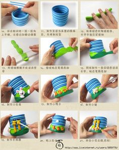 Polymery clay pencil holder 2