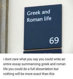 Stupid Funny Memes, Funny Quotes, Hilarious, Funny Stuff, Greek Mythology Humor, Roman Mythology, History Puns, Greek Memes, Ancient Myths
