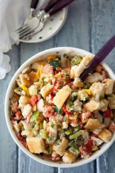 Grilled Southern Panzanella Salad paula deen
