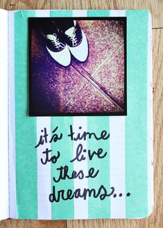 Page from the art journal of @Elsie Larson. #create #inspire #quote