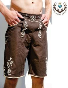 Dude wearing lederhosen swim shorts = HOT!