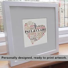 Printable File  engagement gift. Personalised by AliChappellUK, £15.00