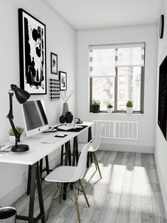 Browse pictures of home office design. Here are our favorite home office ideas that let you work from home. Workspace Design, Office Interior Design, Office Interiors, Office Designs, Gray Interior, Studio Interior, Interior Ideas, Home Office Space, Home Office Furniture