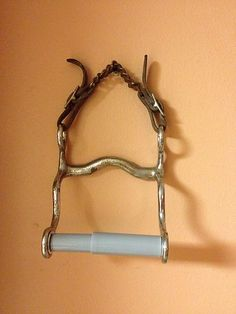 Horse Bit Toilet Paper Holder Leather Chain Strap