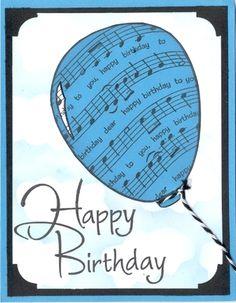 bday-music-balloon-card usings Birthday Sheet Music stamp DSR designs Happy Birthday Guitar, Birthday Card Pop Up, Happy Birthday Greetings Friends, Music Theme Birthday, Happy Birthday Celebration, Birthday Posts, Birthday Pictures, Happy Birthday Cards, Hapoy Birthday